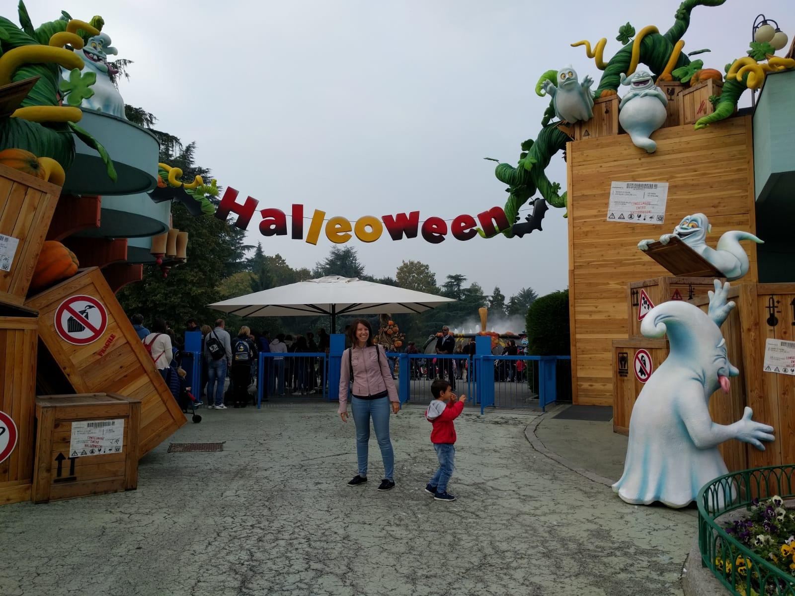 L'entrata di Leolandia in versione Halloween