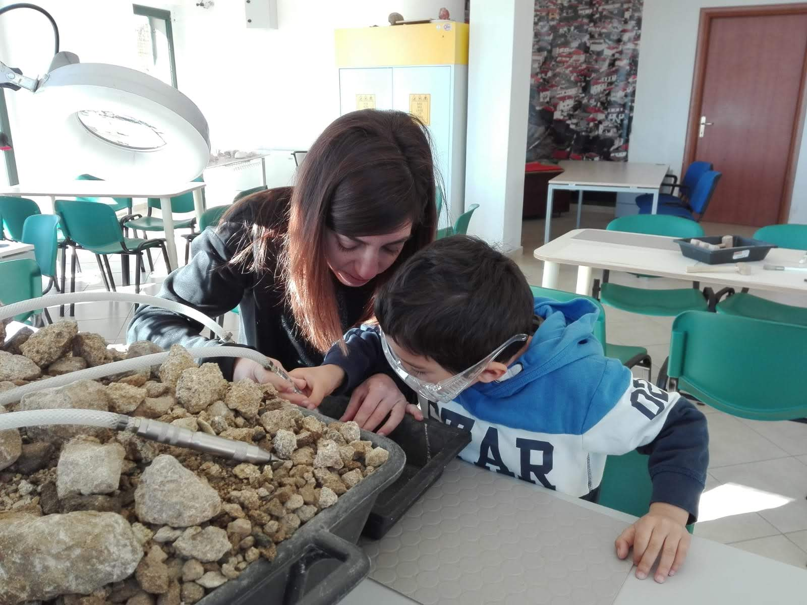 Laboratorio paleontologo